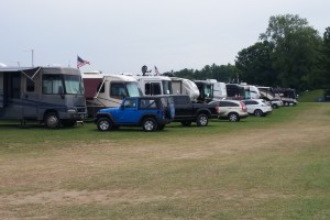 One row of RVs