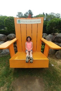 In a super-sized chair