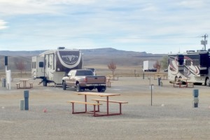 Our site in the gravel lot