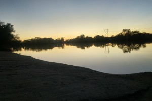 Sunset at the Kearney RV Park