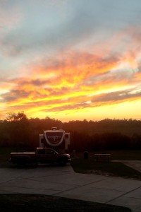 Sunset over the RV